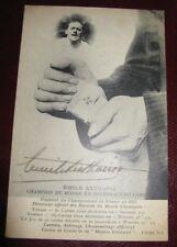 EMILE ANTHOINE Autographe Signé 1914 ATHLETE MARCHE DECHIRAGE CARTES RECORDS