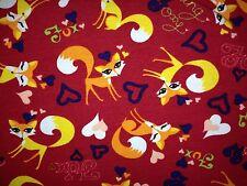 Jersey Feeling Foxi Fuchs Rot Orange Blau Marine Kinderstoff, 1 Meter