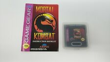 Mortal Kombat (Sega Game Gear, 1992) W/ Booklet and Case