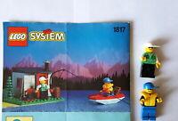 Lego 1817 Bauanleitung Fischerkabine  und 2 Figuren Thema System  BA 91