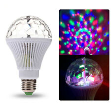 Rotating RGB Crystal Ball Disco Stage Lighting Effect Atmosphere Light Bulb Chic