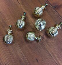12 Beehive Brass Cupboard Door Knobs,Beehive handles for drawers etc,Reeded knob