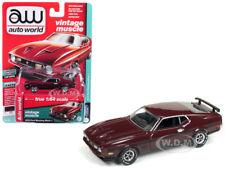 1972 FORD MUSTANG MACH 1 MAROON LTD ED 1/64 DIECAST CAR BY AUTOWORLD AWSP011