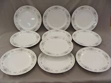 10 Dinner Plates Diane Pattern, Fine Porcelain China of Japan