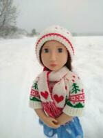 A Girl For All Time Doll Sweater Hat Scarf