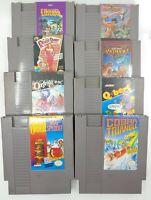 Nintendo NES 8 Game Lot - Cobra triangle + Exodus Ultima, etc ( Authentic )