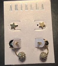 in Gold New Crystals. Retail $58 2 Ariella Collection Pave Enamel Spade Earrings