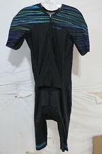 Louis Garneau Course LGneer Skinsuit Men's XL Black/Blue/Green