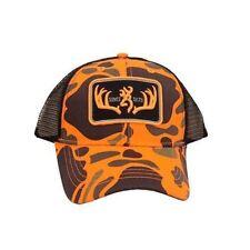Browning Cap, Racked, Orange/Black Hat Snapback NWT