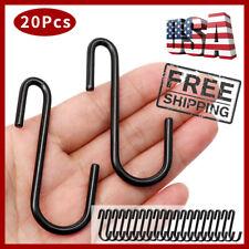 20x S Hooks Heavy Duty Metal S Hanging Hooks Garden Hangers Kitchenware