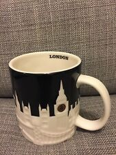 STARBUCKS COFFEE CITY MUG COLLECTION UK - LONDON CITY RELIEF SKYLINE NEW