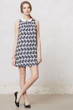 ANTHROPOLOGIE - POSTMARK Chaton Cat Print Shift Swing Dress size 12 L $228 NEW