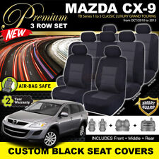 Premium BLACK Seat Covers Mazda CX-9 CLASSIC LUXURY TB 1-5 3Row SET 10/2010-15