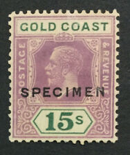 MOMEN: GOLD COAST SG #100s 1921-4 SPECIMEN MINT OG H LOT #191541-391
