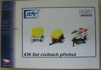 Modellbau Kunststoff Modellbausatz Set PKW Anhänger 3 Stück SDV 1:87 H0