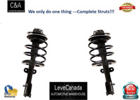 ( 2) FRONT Complete   Struts &  with coil springs  FIT 04-07 Toyota - Highland
