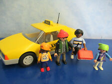 Taxi 3199 + 3 x pasaje a personajes 4311 figuras aeropuerto de Playmobil 1979