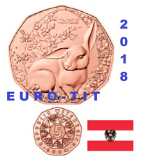 PIECE  DE   5 €   AUTRICHE  COMMEMORATIVE  LE  LAPIN   2018   / 2018  disponible