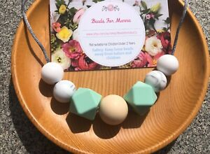 Ocean Wave Silicone Necklace Was Teething Sensory Gift Aus Made