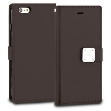Premium Leather Bi-Fold Flip Card Slots Wallet Cover Coase for Samsung Note 8