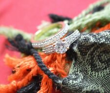 1.87 Ct Round Cut Diamond Bridal Ring Engagement Set 14k Yellow Gold Finish