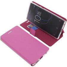 Custodia Per sony Xperia L1 Book-Style Protettiva Cellulare Libro Rosa