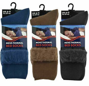 Men Lounge Socks Thick Warm  Feet Brushed Thermal Fleece Bed Sock
