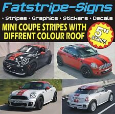 MINI COUPE STRIPES CAR GRAPHICS R58 COOPER S JOHN COOPER WORKS DECALS JCW 1.6