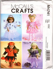 """McCalls Doll Fairy Costumes for 18"""" dolls M4741 new and uncut"""