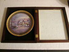 Thomas Kinkade 2002 Memories Of Christmas #1363A Ceramic Plate