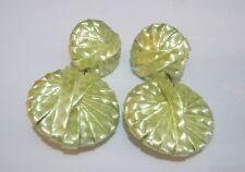 earrings approx 6 cm long Lovely lemon yellow material disc
