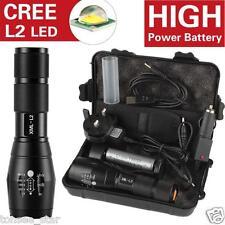 Tragegu X800 6000LM Shadowhawk L2 LED ZOOM Taschenlampe Leistungsstarke Batterie