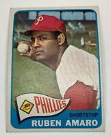 1965 Topps # 419 Ruben Amaro Baseball Card Philadelphia Phillies