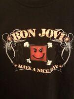 Bon Jovi Music Have A Nice Day Vintage Size 2XL Concert Tour Mens T-Shirt Tee