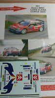 DECALS 1/43 REF 997 CITROEN XSARA WRC SEBASTIEN LOEB RALLYE TOUR DE CORSE 2005