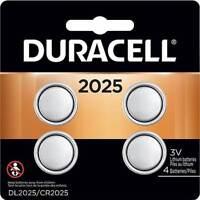 4 Pack Duracell CR2025 3 Volt Battery ECR2025 CR 2025 DL2025
