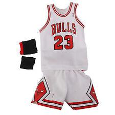 1/6 NBA Chicago Bulls 23 Michael Jordan Jersey WHITE for Enterbay Figures AIR