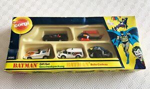 Vintage Corgi Juniors Batman Gift Set #3080 5 x vehicles, boxed, great condition