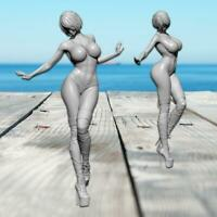 New 75mm Height Sexy Girl Resin Soldier Model Unpainted DIY Art White Decor Hot
