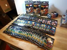 DBZ CCG X74 DRAGON BALL Z SEALED PANINI BOOSTER PACKS X3 SEALED STARTER DECKS