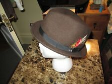 Very Stylish Man's Brown LiteFelt Fedora Hat ~ Bailey of Hollywood ~ Nice