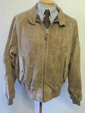 "Polo Ralph Lauren con cremallera chaqueta de Gamuza Harrington XL 46-48"" euro 56-58 - Brown"