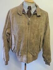 "POLO Ralph Lauren Zipped Suede Harrington Jacket XL 46-48"" Euro 56-58 - Brown"
