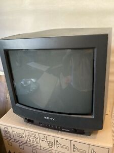 "SONY Trinitron KV-14M1U Colour CRT TV Retro Gaming Monitor 14"" with Remote"