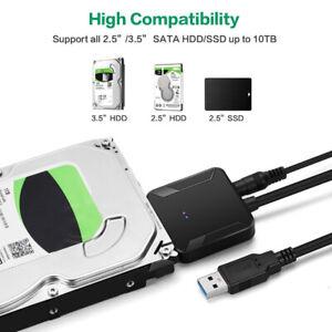 SATA USB 3.0 2.5 / 3.5 HDD SSD Disque dur Convertisseur Câble Ligne Adaptateur