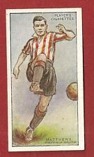 SHEFFIELD UNITED FC The BLADES VINCE MATTHEWS Tranmere Rovers 1928 original card