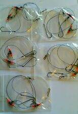 5 x 2 Hook Paternoster Sea Fishing Rigs-Quality /& Hand Made-Pier-Beach 3//0 Hooks