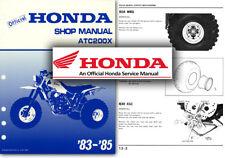 Servicio De Honda ATC200X Manual de taller reparación tienda ATC 200 X Trike ATC200 1983 85