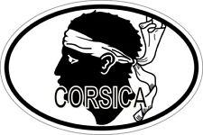 Sticker aufkleber Nationalitätenkennzeichen flagge fahne korsica corsica corse