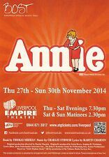 ANNIE THE MUSICAL EMPIRE THEATRE NOV 2014  PROMOTIONAL FLYER BUY 2 GET 1 FREE!!